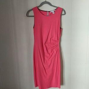 Kenneth Cole NY zipper Stripe Coral Sheath Dress